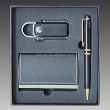 NEW 3pc SET WRITING PEN & USB PEN DRIVE & BUSINESS CARD HOLDER GIFT BOXED