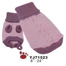 "Amazon hot selling 8""-18"" dog size winter dog sweater clothes for small to large dog"