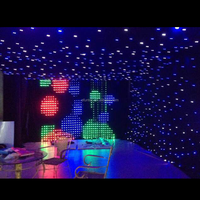 factory custom wedding party decorative flexible star light led backdrop curtain with remote control