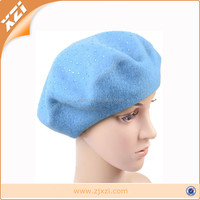 Winter Vintage Solid Colors Soft Hat Ski Cap Ladies Classic Berets