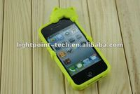 2012 new design cat protective 3d silicone cover case for iphone 4 iphone4 4s