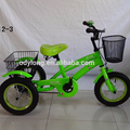 Hot sale new design outdoor ride-on toy children tricycle pedal go kart with basket TRTJ12-1
