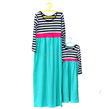 Wholesale mommy and me maxi dress cotton boutique dress