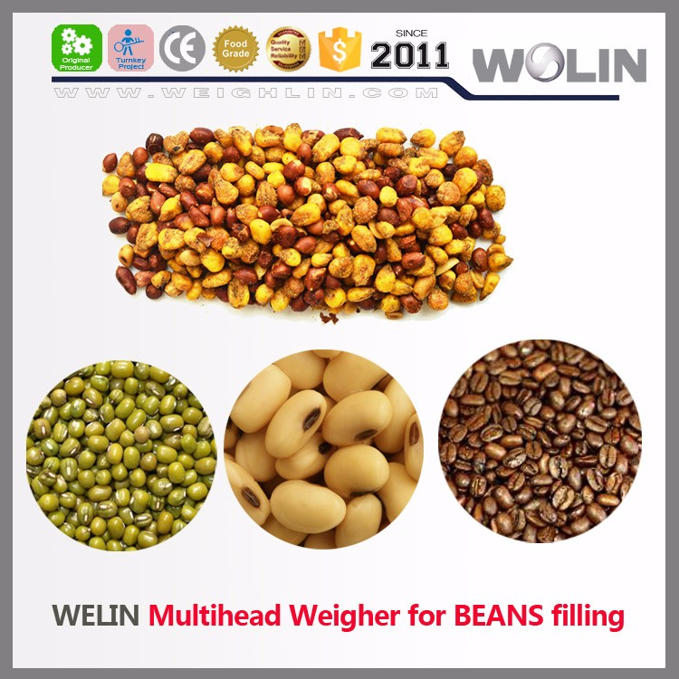 Welin 2017 new version mix products 2 8 16head auto electronic weigher for nuts granules filling equipment