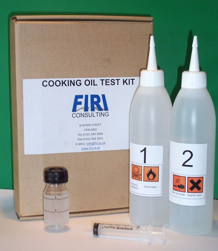 Cooking oil test kit