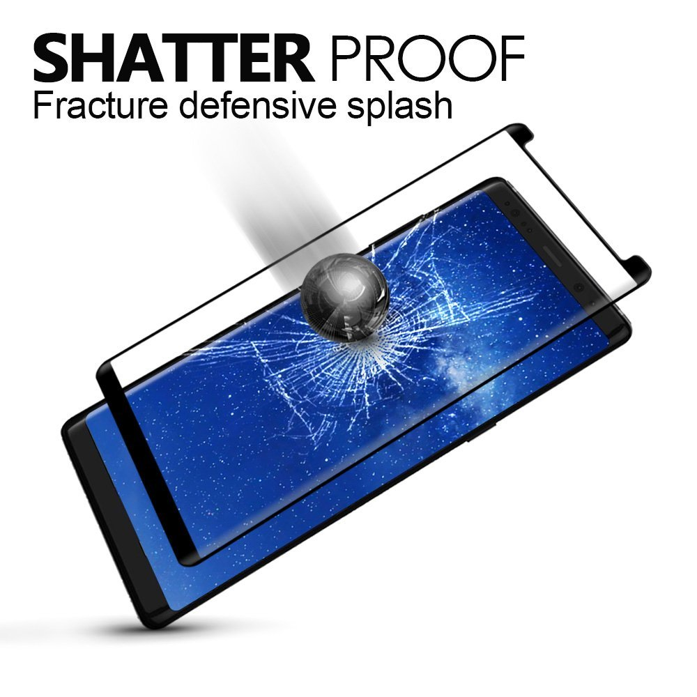 9H explosion-proof 3D printing color curved full cover tempered glass screen protector for For Samsung galaxy note 8