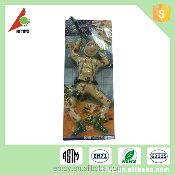 Action figure electric small crawling plastic military soldier toy