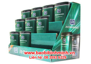 "Paper Display Shelf For Brand ""Romano Shampoo"""