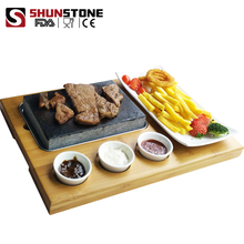 Natural Lava Stone of Cookware And Grill Steak Set To Cook Meat
