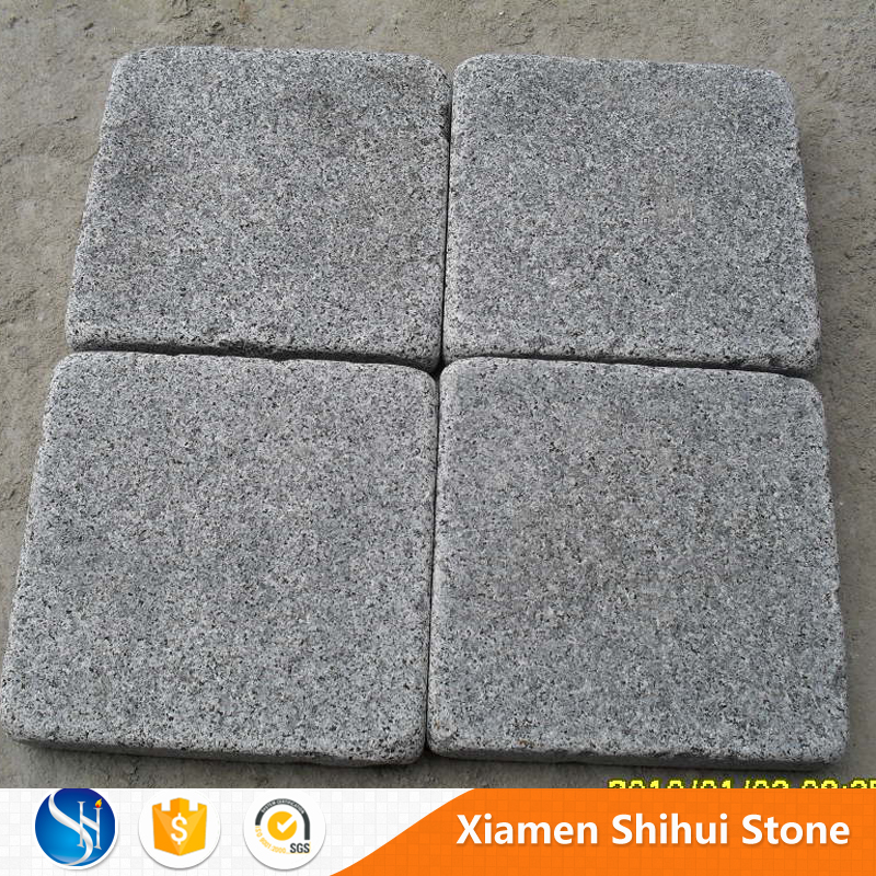 Light grey tumbled G654 granite for garden