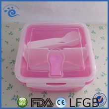 ~ New Design PP Portable microwaveable Office 800ml food container lunch box with 3 sections