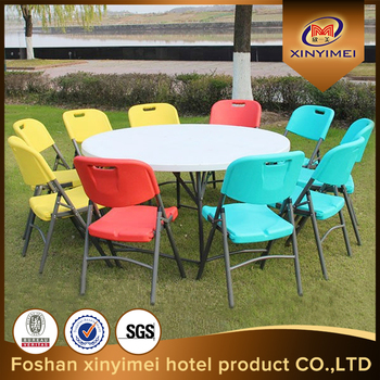 Strong And Lightweight Plastic Outdoor Dining Folding Table