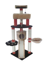 colorful indoor wodden cat tree , luxury cat tree with strong construction