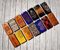 wood phone cover for iphone 7,laser engraving 3d feeling cell phone case