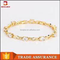 Most popular products Teen girl silver bracelets Saudi gold zircon stone bracelet 14 k Gold silver bracelet design