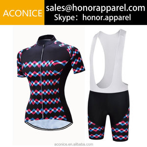 China oem service short sleeve bike team mens design your own custom cycling jersey and bib short