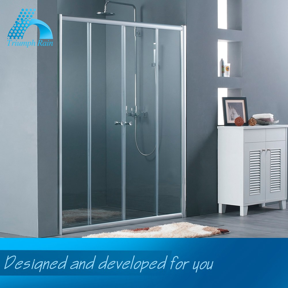 Lightweight Newest Design Framed Double Roller Sliding Shower Door