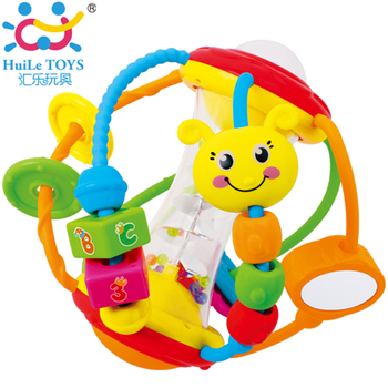 2017 Huile Toys Baby Plastic Baby Rattle Toys
