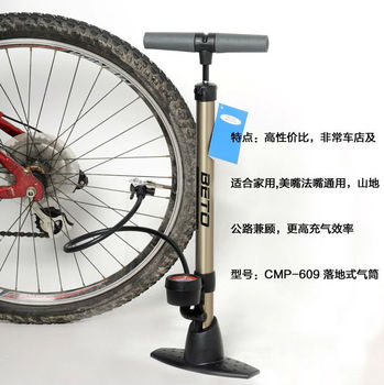 Floor type pump for bicycle