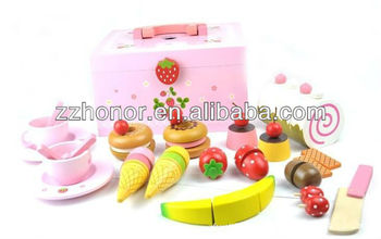 Mother garden wooden toys, afternoon tea wooden toys set