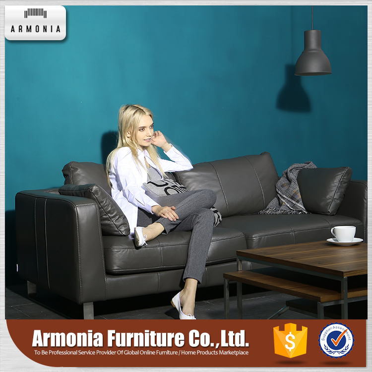Genuine leather style furniture nordic sofas