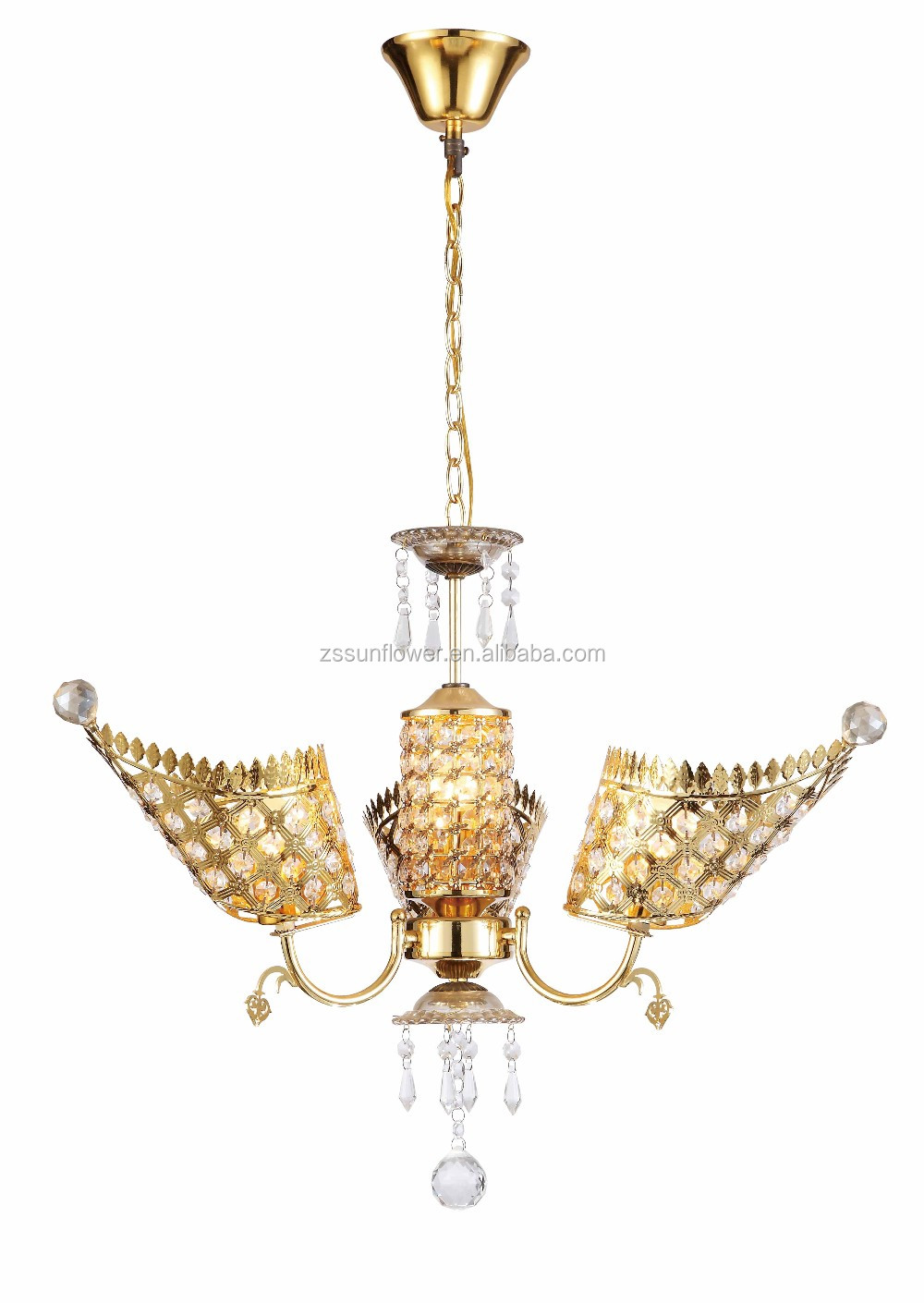 Modern hotel chandelier lighting crystal pendant lamp