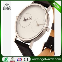 2016 new arrival double jjapan movement fashion wrist watch