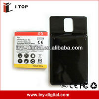 3.7V 3600mAh High capacity Extended Battery for Samsung Infuse 4G i997 with back cover door ,made in china