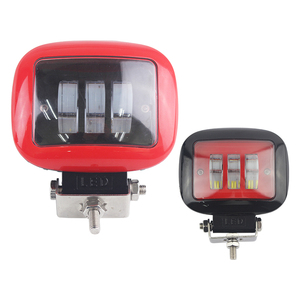 5*4inch 27W Led Cube Driving Work Lights - Square - 1800lm - Red Black - for Supplement Lighting Auxiliary Low Beam Automotive