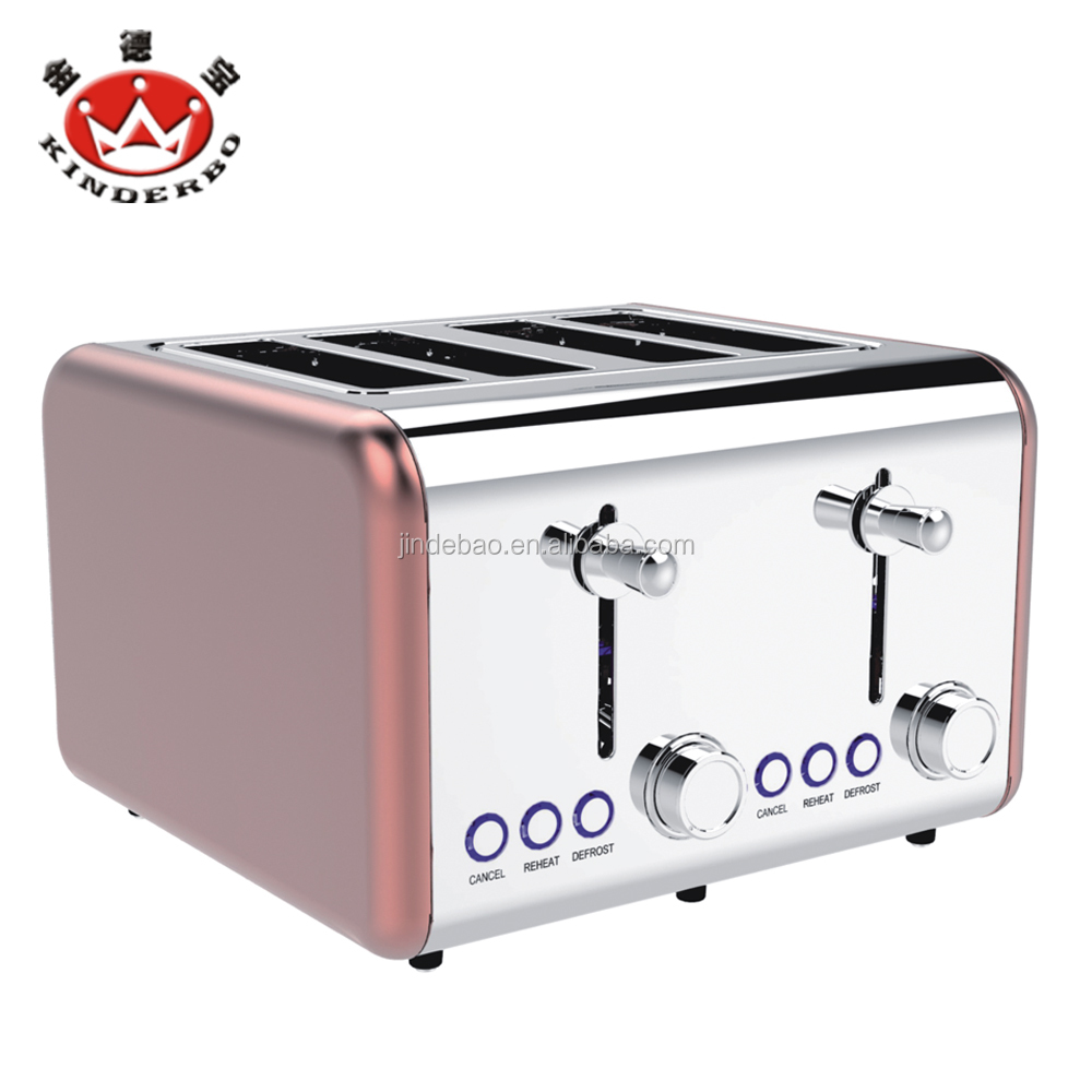 1500W 4 Slice Long Slot Toaster with Defrost/ Reheat/ Cancel Function