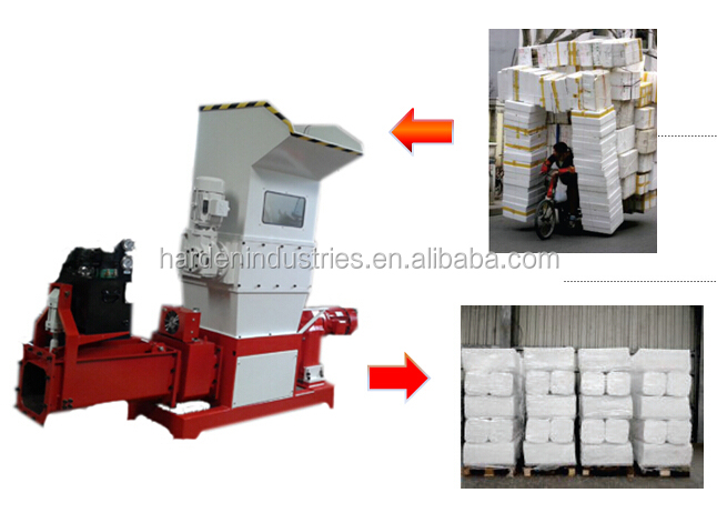 styrofoam compactor eps polystyrene melting recycle machinery price