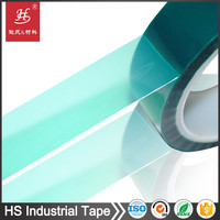 12 year factory Heat resistant insulation silicone adhesive 3m green pet polyester tape