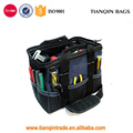 14 inch Heavy Duty Wide Mouth Contractor Polyester Tool Bag With Back-saver Padded Shoulder Strap