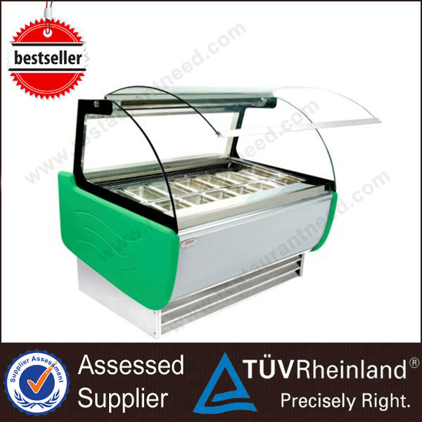 Guangzhou Stainless Steel R134a/R404 Chest freezer ice cream