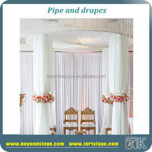 wholesale aluminum wall flower curtain/ceiling drapery/round pipe and drape for wedding
