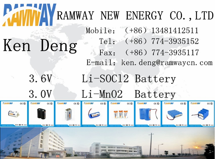 1.2ah Lithium Battery for Smoke Detector ER9V 6F22