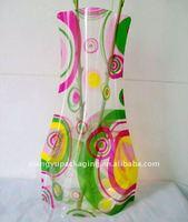 Customized Logo Plastic Roll Up Vase For Flower