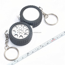 1m 39Inch Car Tyre Wheel Shape Metal Keychain Tape Measure