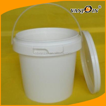 White PP Non sterile Handle Packaging Bucket With Tamper Evident Lids