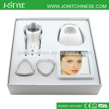 Handheld Rechargeable IPL LED light photon galvanic handheld microcurrent beauty device