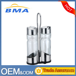 2 Pcs Stainless Steel Comdiment Set/Oil and Vinegar Cruet Set