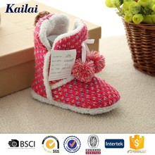 2016 china brand name homelike pretty children kids cashmere shoes