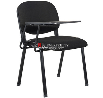 Cheap School Metal Frame Padded study chair with attached folding Writing Table