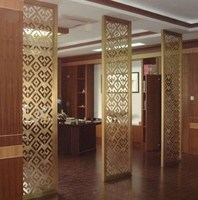 Factory directly sell fancy style screen room divider for hotel decoration