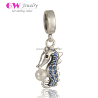 China Jewellery 925 Silver Charms Garden Snake Beads With Nature Pearl