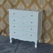 White Jewellery Chest of Drawers Shabby Chic Furniture Vintage Display Cabinet