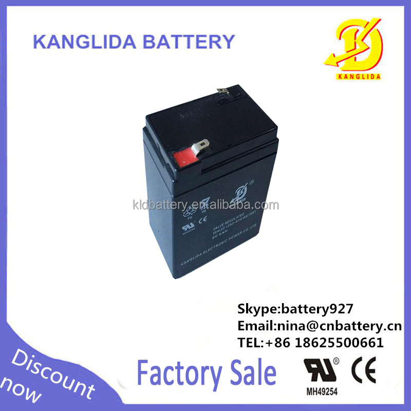 maintenance free storage agm battery 6v 5ah electric scales battery