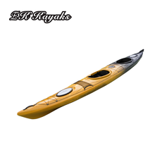 Cheap wholesale sit in sea paddle double 2 person rowing kayak sale plastic canoe kayak