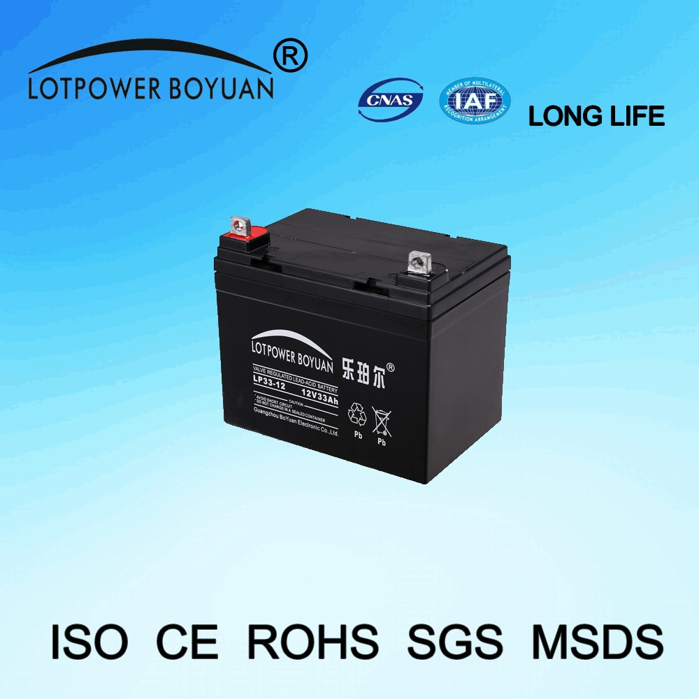 storage cell Sufficient capacity 12v 33ah ups battery in guangzhou rechargeable battery pack assurance reliable battery
