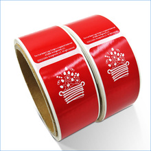 Custom order red waterproof sticker paper roll